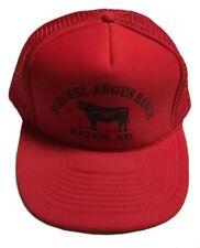 Vtg Boeckel Angus Ranch Trucker Hat Hazen North Dakota Cap Cattle Livestock ND