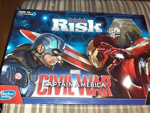 HASBRO - RISK MARVEL CAPTAIN AMERICA CIVIL WAR EDITION BOARD GAME