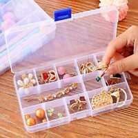 Plastic 15/10/24 Slots Adjustable Jewelry Storage Case Box Organizer_Bead T9L2