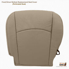 2011 2012 Dodge Ram 1500 Laramie Driver Bottom Perforated Leather Seat Cover Tan
