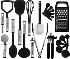23 Piece Kitchen Utensils Set Nylon Utensils Stainless Steel Cooking Tools Set