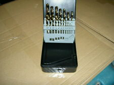 toolpak 19 piece cobalt hss fully ground drill set model cjs01 brand new