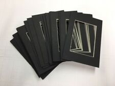 Picture Framing Mats 3.5x5 for 2.5x3.5 Aceo black set of 20 small photo