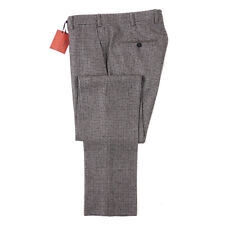 NWT $825 ISAIA Slim-Fit Gray Houndstooth Check Soft Wool Pants 31 (Eu 46)