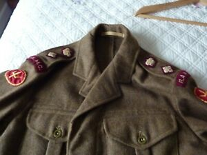 Genuine British army battledress 1949 Pattern Blouse/Trousers with 3 rank option