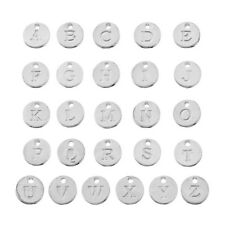 1 Set Mixed Silver Plated Mini Charm Pendants Jewelry Findings Letter A-Z