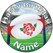 Inghilterra Pallone da rugby glassa TOPPER PER TORTE 20.3cm (20cm) CIRCOLO -