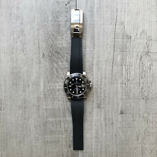 20MM Rolex Black Silicone Rubber Watch Strap Band For Rolex OYSTERFLEX Watches