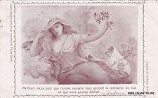 1906 concours du Figaro Illustré - carte postale souhait de Nouvelle Année -3