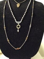 $49 Lucky Brand Tone Tone Layered Necklace 305a