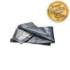 Grey 200GSM Heavy Duty Reinforced Mesh Waterproof Tarpaulin Cover Mono Sheet