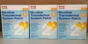 3X Nicotine Transdermal System Patches, 14mg, 14 Patches Each, Step 2 Exp 06/21