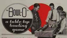 Bowl-O Bowling Pinball Game 1938 HowTo Build Plans