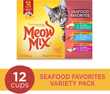 Meow Mix Seafood Favorites Variety Pack Wet Cat Food 2.75-Ounce Pack Of 12