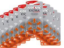 60 x Hörgerätebatterien Hörgeräte-Batterien  Rayovac Extra 13 AE PR48