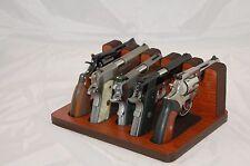 Pistol 5 Gun Rack Stand 501 Mahogany Brown Cabinet Safe