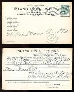 p1299 - WINNIPEG 1911 Postcard. Inland Lines Ltd - Steamer Rosedale. Port Hope