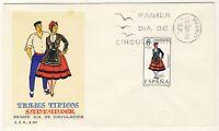"""ESPAGNE / SPAIN / ESPAÑA - 1970 - TRAJES TIPICOS """"SANTANDER"""" Mi.1865 FDC"""
