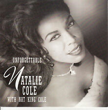 "NATALIE COLE  Unforgettable PICTURE SLEEVE 7"" 45 record + juke box title strip"