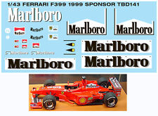1/43 FERRARI F399 1999 SPONSOR MICHAEL SCHUMACHER DECALS TB DECAL  TBD141