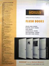 MORGAN Flush Doors Catalog Fire Door ASBESTOS Core 1964 Recommended in Schools!