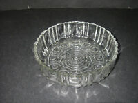 Anchor Hocking Glass OLD CAFE Clear Candy Dish Depression 1936-1940.