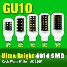 AC 220V GU10 25W 30W 36/56/72/96 LED 4014 SMD Cover Corn Light Lamp Bulb White