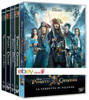 PIRATI DEI CARAIBI - LA COLLEZIONE COMPLETA (5 DVD) 5 Box Singoli DISNEY