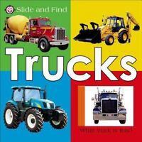 TRUCKS Roger Priddy BOARD BOOK Slide and Find Flaps NEW children's toddler cars