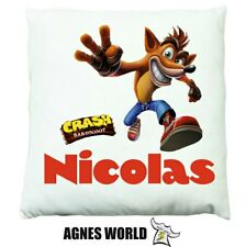 Personalised boys crash bandicoot animal Cushion Pillow Gift Birthday Present