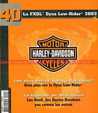 HARLEY DAVIDSON FXDL 1450 Dyna Low Rider 2002 ; BUELL Story Histoire MOTO HD