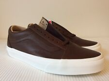 Vans Old Skool Lux Leather Chocolate Porcini VN0A38G1QTT New W/Box DS Men's SZ 8
