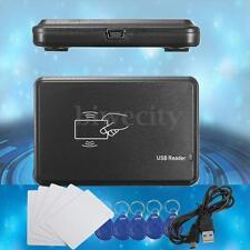 13Pcs 125Khz RFID ID Card Copier/ Reader/Writer Programmer & ID Cards & 5 Tags