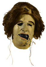 """The Texas Chainsaw Massacre Licensed Leatherface """"Grandma"""" Mask With Hair"""