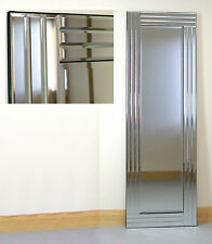 "Grace Silver Glass Framed Full Length Bevelled Wall Mirror 48"" X 16"" Large"