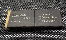 Vintage E. Weck & Son Sextoblade Single Edge Safety Razor Cardboard Case Style A