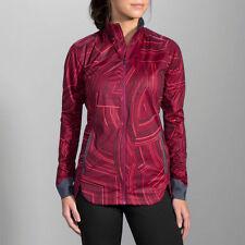 New Brooks Women's Drift Shell Running Jacket - Size M - Sangria Cosmo