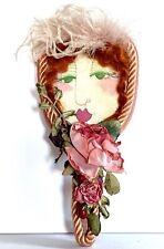 Vintage Mid Century Jill Krasner Doll Face Hand Mirror