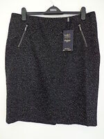 "BNWT LADIES M&S LUXURY COLLECTION RANGE BLACK MIX SKIRT SIZE 12 LGTH 24"" R/P £45"