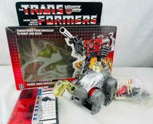 Transformers Original G1 1985 Dinobot Sludge w/ Unused Stickers Box Complete