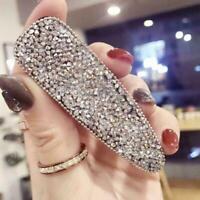 Women's Crystal Bling Snap Hair Clips Slide Hairpin Hair Pins Barrettes Par P9O4