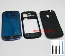 Housing Front Frame Chassis+Back Battery Cover for Samsung Galaxy S3 Mini i8190