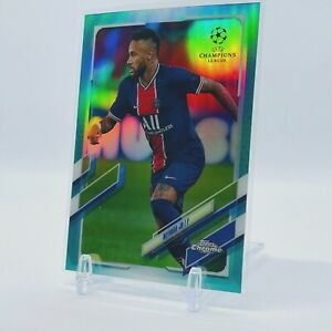 2020-21 Topps Chrome UEFA Champions League Neymar Jr. Aqua Refractor 70/199 PSG