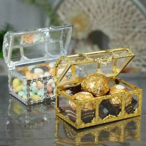 1PC Gold Foil Treat Wedding Favor Party Event Supply Cake Candy Box