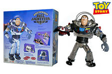 "Toy Story Intergalactic Buzz Lightyear 11"" Chrome Talking Action Figure Disney"