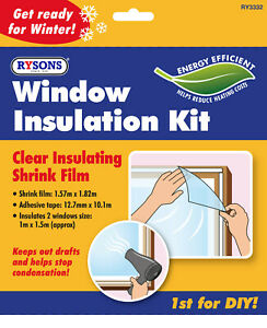 WINDOW INSULATION KIT DOUBLE GLAZING SHRINK FILM DRAUGHT EXCLUDER CONDENSATION