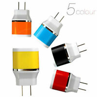 New Dual USB Port Wall Home Travel AC Adapter Fast Power Charger For Microphone