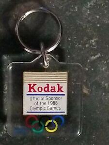 Vintage Kodak 1988 Olympics Keychain Plastic Authentic USOC 36 USC 380 Item