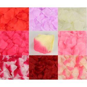 1000pcs Multi Colors Silk Flower Rose Artificial Petals Wedding Decorations