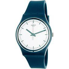Swatch Women's Originals GG222 Teal Rubber Swiss Quartz Fashion Watch